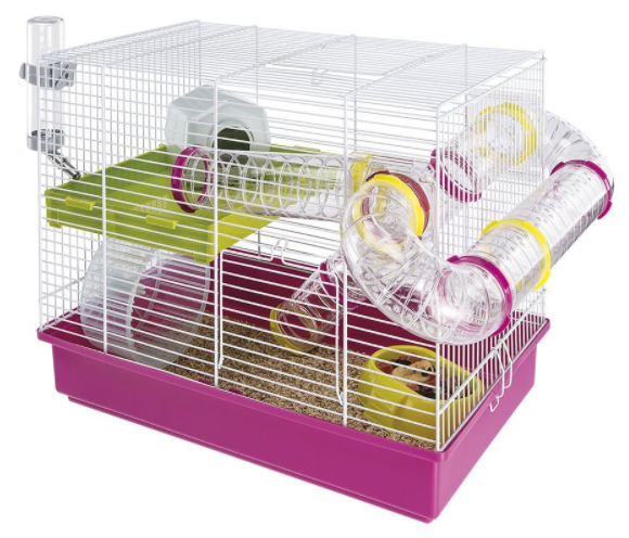 The best pink hamster cage